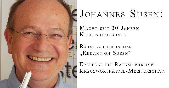Der Profi im Kreuzworträtsel erstellen: Johannes Susen