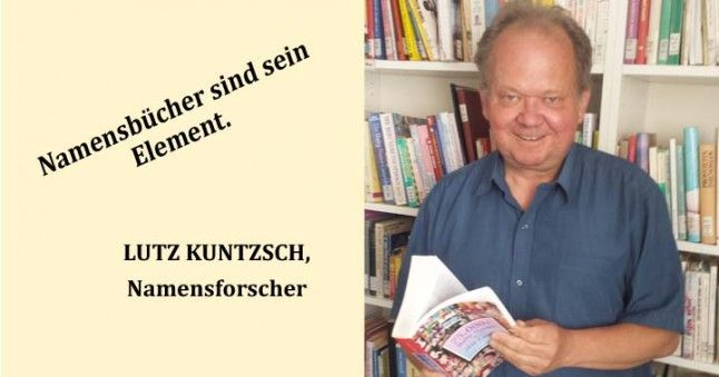 Namensforscher Lutz Kuntzsch zwischen Namensbüchern