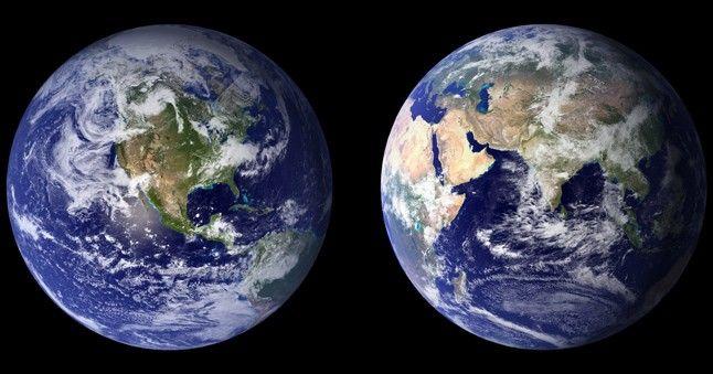NASA-Bilder von der Erde.