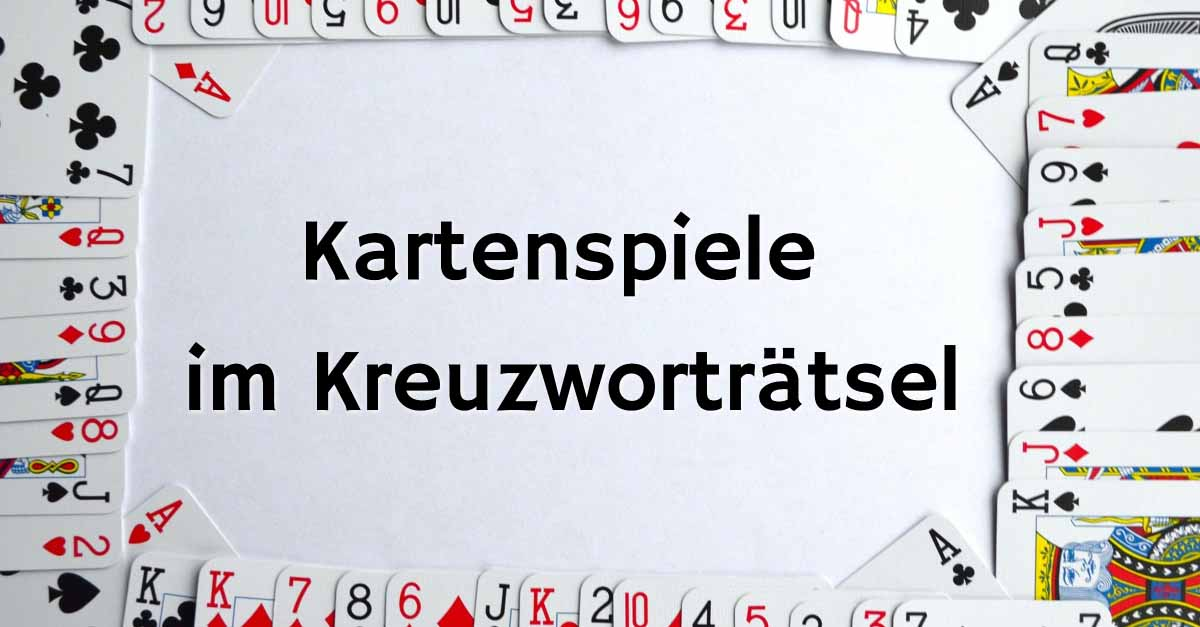 Kartenspiele Kreuzworträtsel